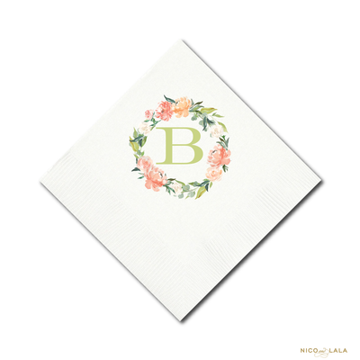 Floral Wreath Napkins