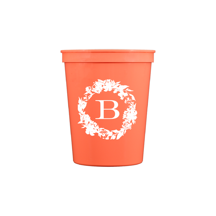 FLORAL WREATH STADIUM CUPS