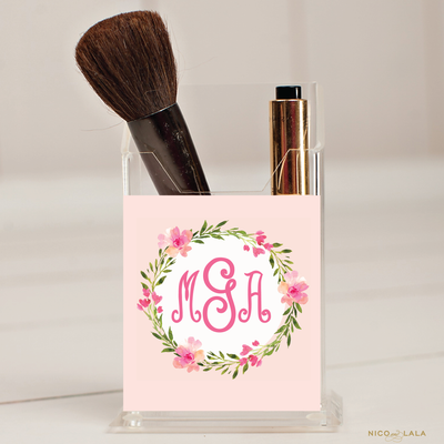 Buds and Blooms Pencil/Make Up Brush Holder