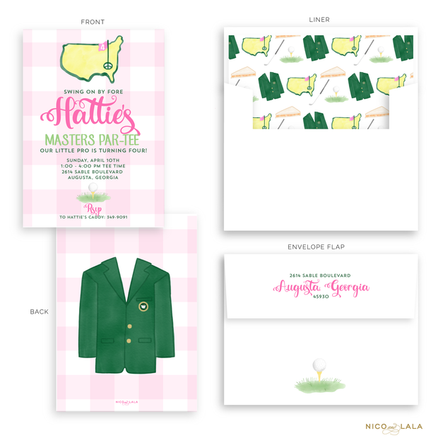 Masters Birthday Invitations, Pink