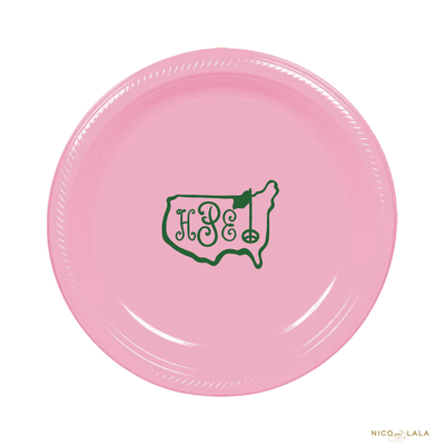 Masters Birthday Plates, PInk