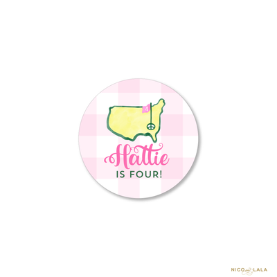 Masters Birthday Stickers, Pink