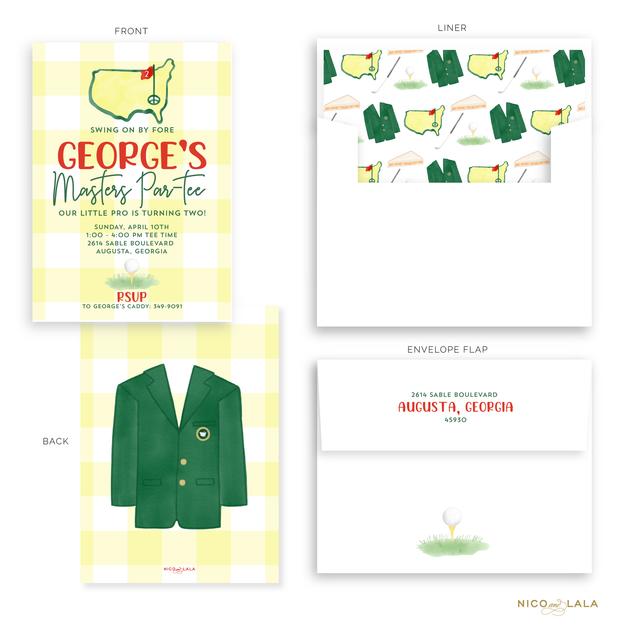 Masters Birthday Invitations