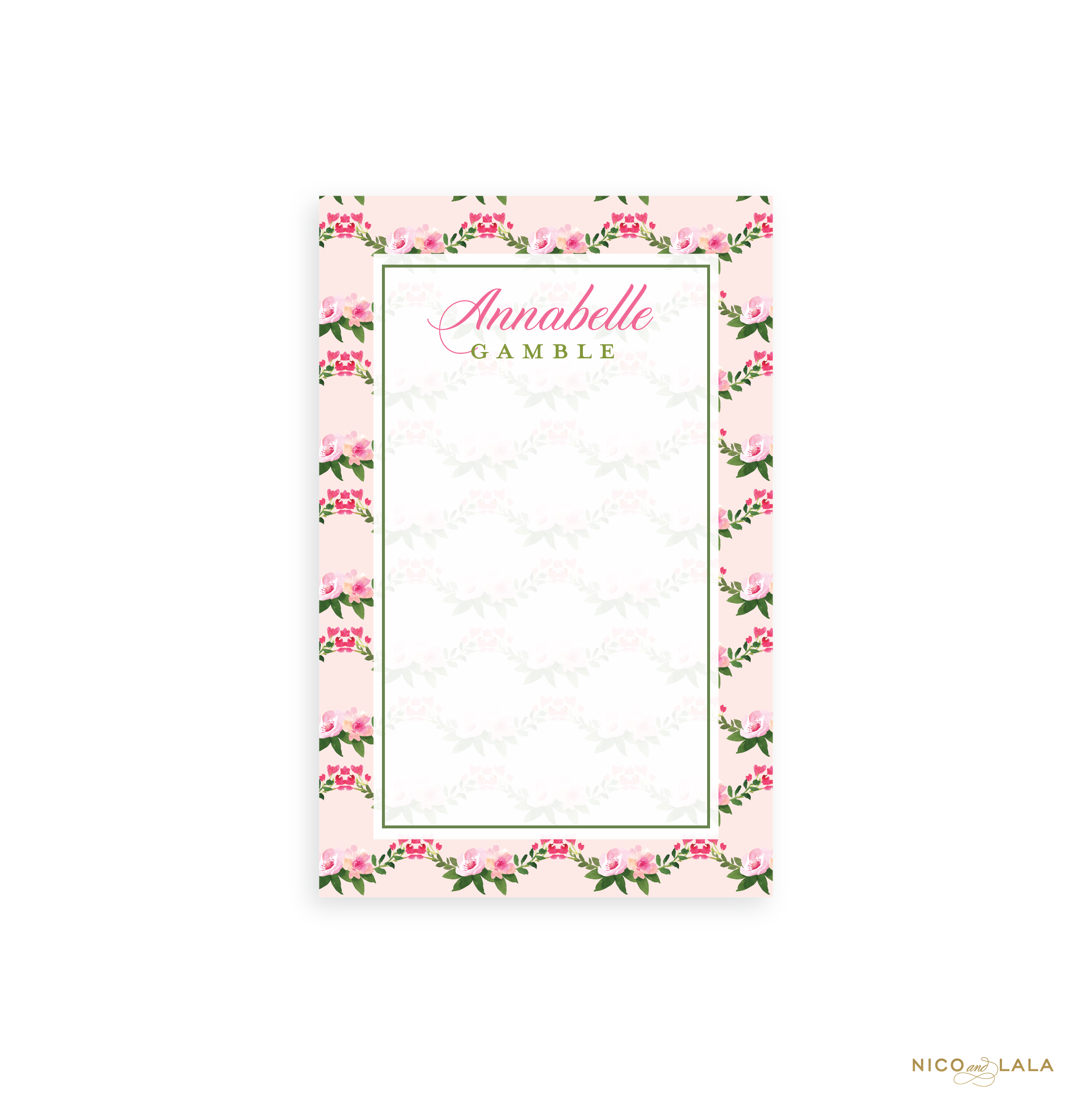 Buds and Blooms Notepad