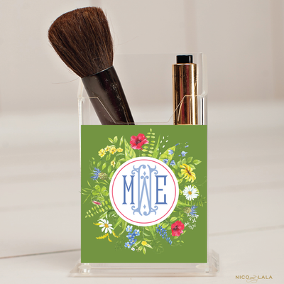 Wildflower Pencil/Make Up Brush Holder