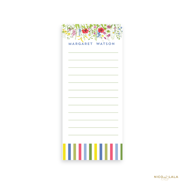 Wildflower Skinny Notepad