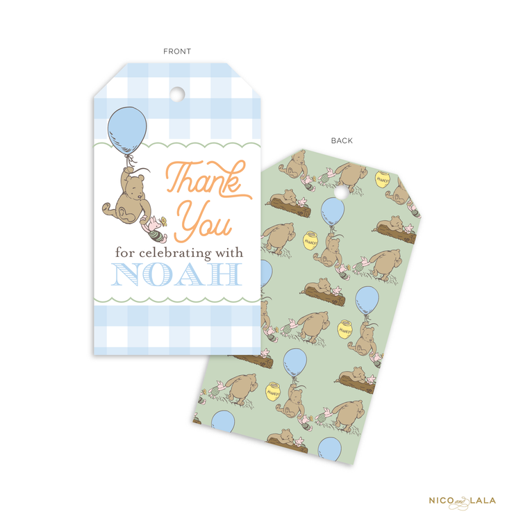 Winnie The Pooh Birthday Favor Tags