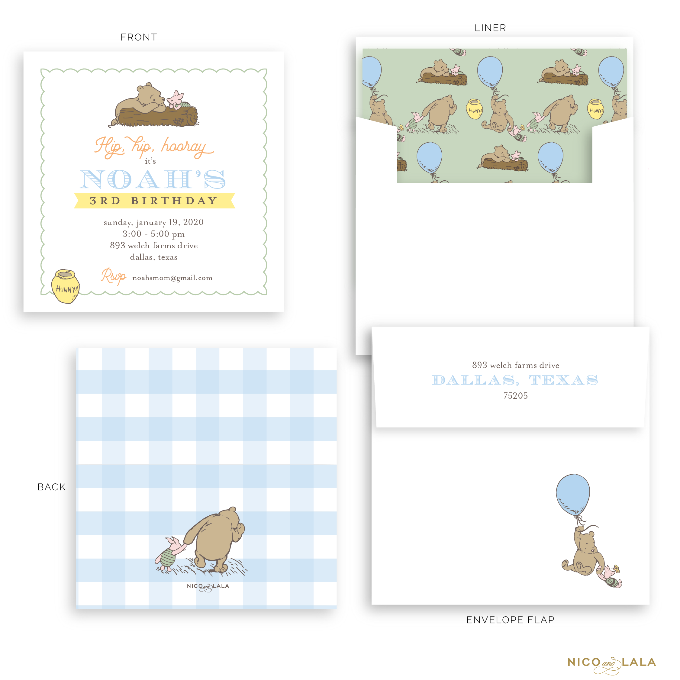 Winnie The Pooh Birthday Invitations