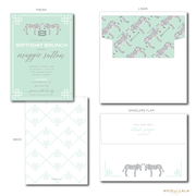 CHIC ZEBRA BIRTHDAY INVITATIONS