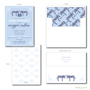 CHIC ZEBRA BABY SHOWER INVITATIONS