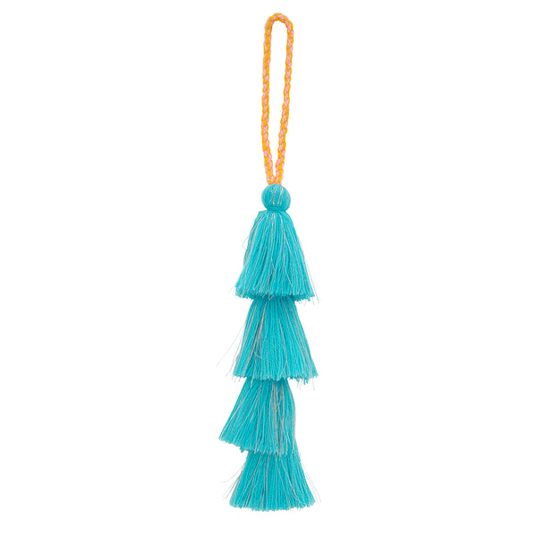 Blue Lurex Tassel