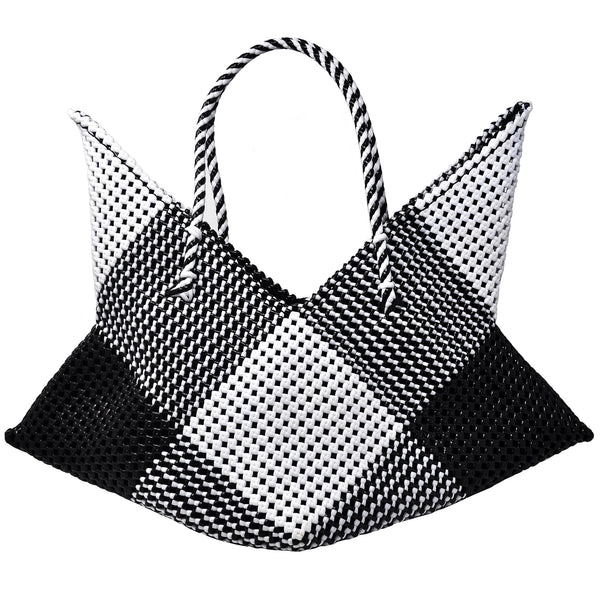 Cosmo Large Tote- Black/White