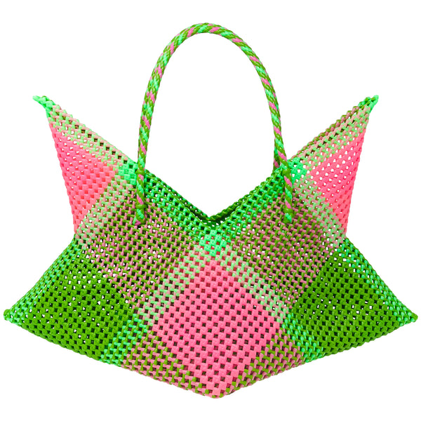 Cosmo Large Tote- Pink/Green