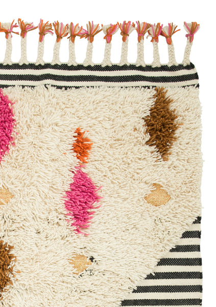 Desert Rug- Pink, Navy and Tan