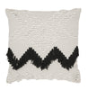 Fringe Cushion- White and Black Fringing