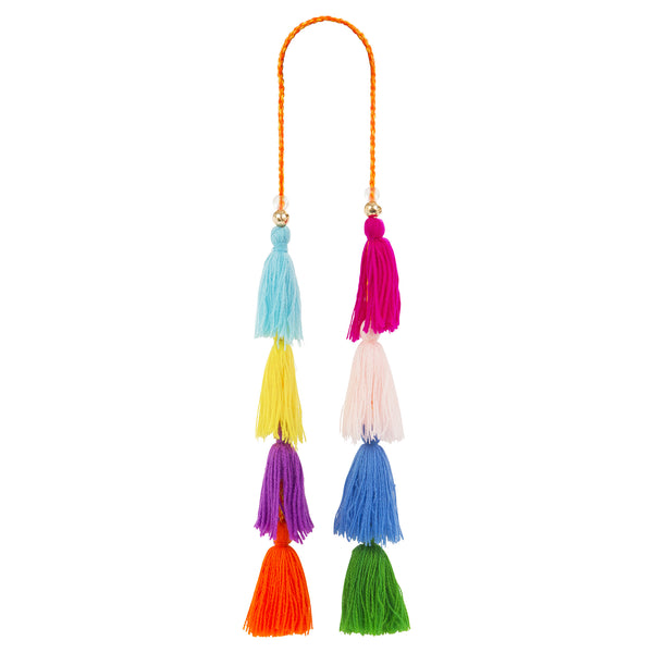 Multicoloured beaded Tassel