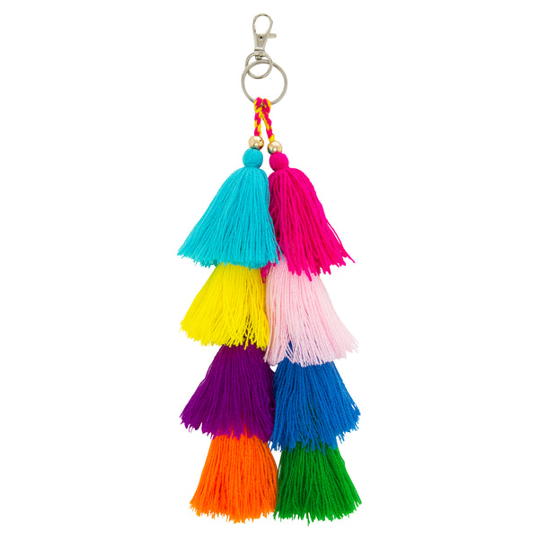 Multicolour Tassel Key Ring