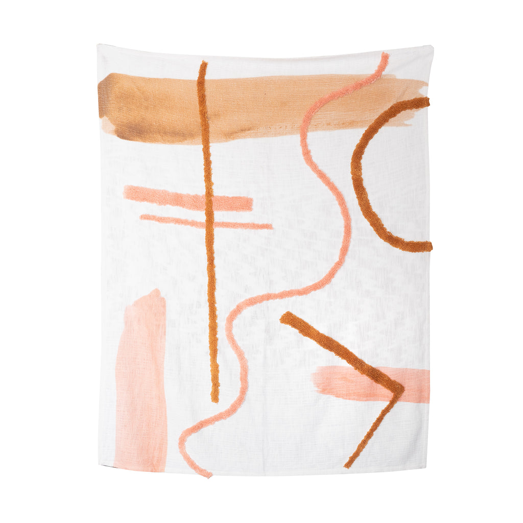 The Dawn Throw Rug - Blush/Tan