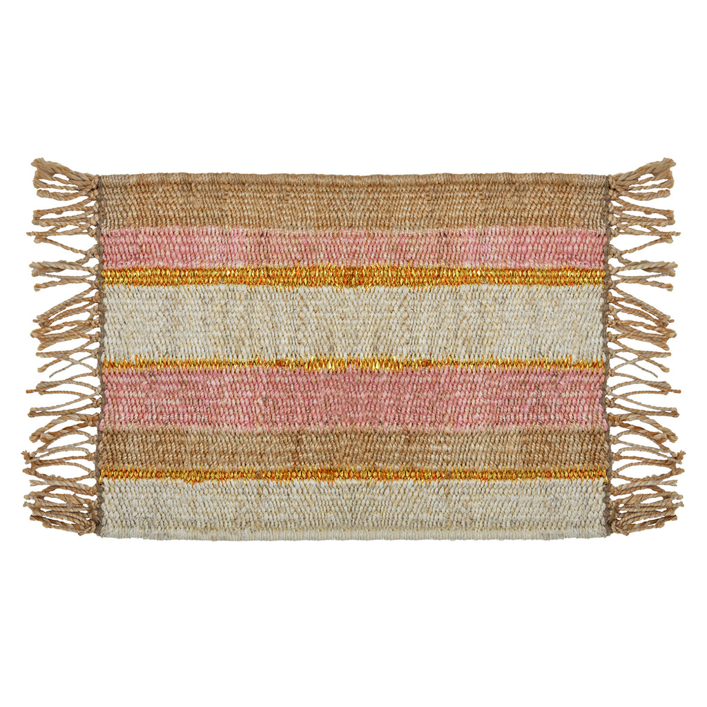 Peachy Stripe Doormat