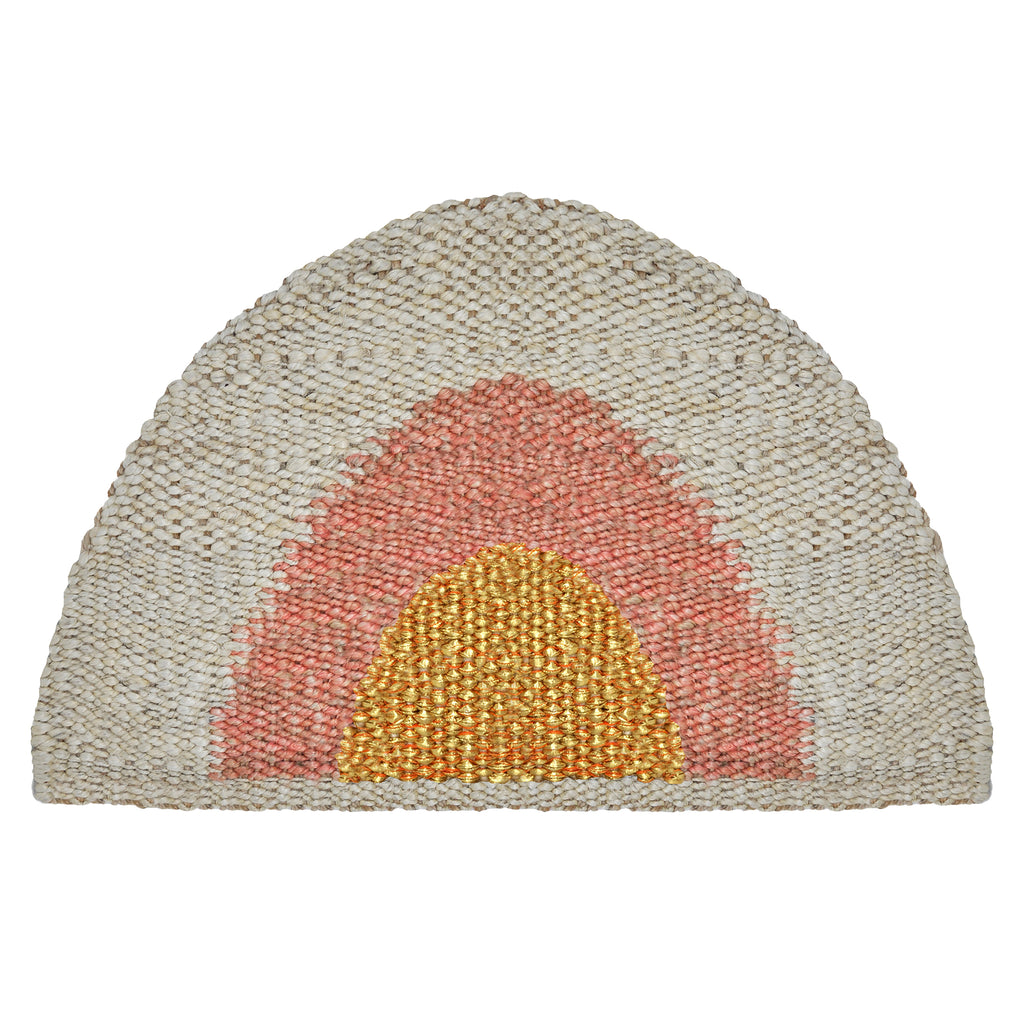 Sonny Round Doormat- Gold/Peach/Natural