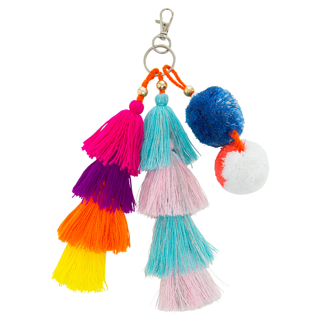 Tri Tassel Key Ring