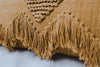 FRINGE CUSHION TAN/TAN  preorder