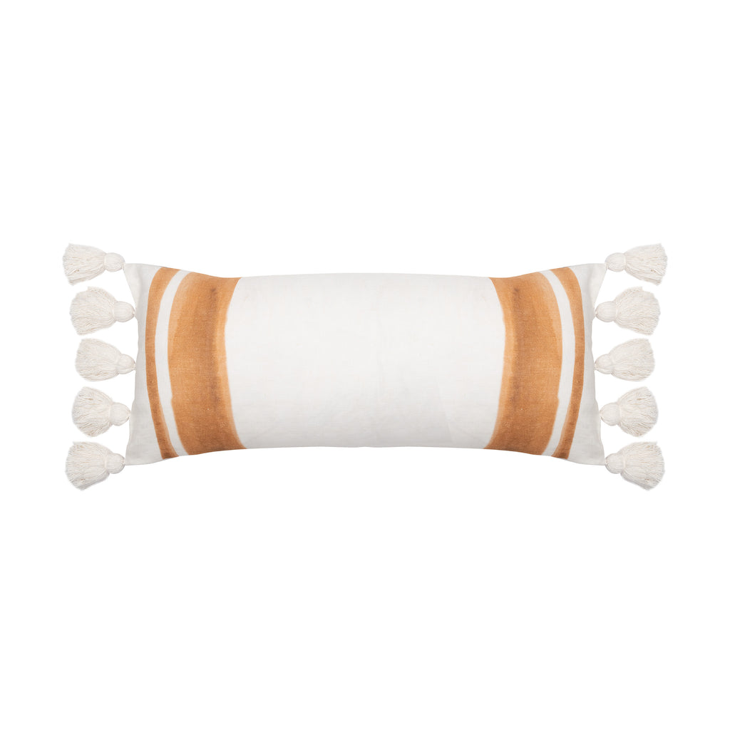 Sophie Linen Oblong Cushion - Tan