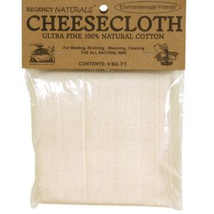 Cheesecloth, 100% Natural Cotton, Ultra Fine, 9 sq ft