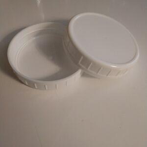 Plastic Wide-Mouth Mason Jar Lid, White