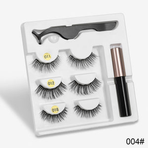 3 Pairs Magnetic Eyelashes set Magnet Liquid Eyeliner