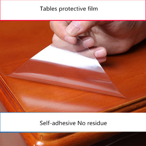 Furniture protective Transparent film Solid wood marble glass dining table tablecloth Kitchen self-adhesive waterproof film