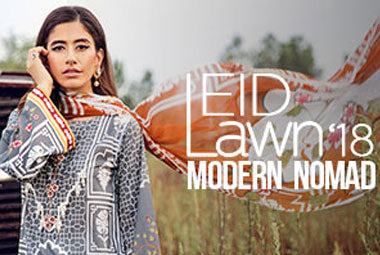 Unstitched Eid Lawn Chapter East 2018