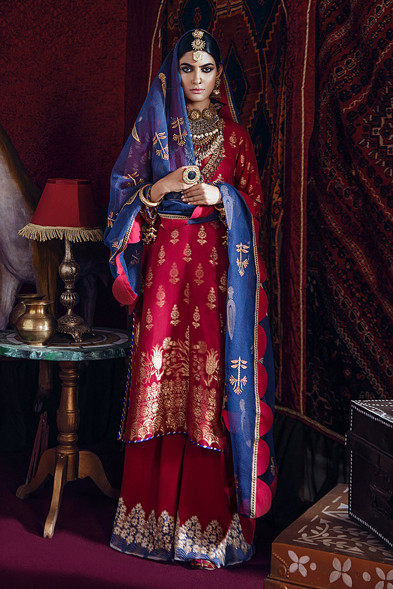 Cross Stitch Online Baad-e Chaman-A Razia Sultana Jaquard Collection 2020