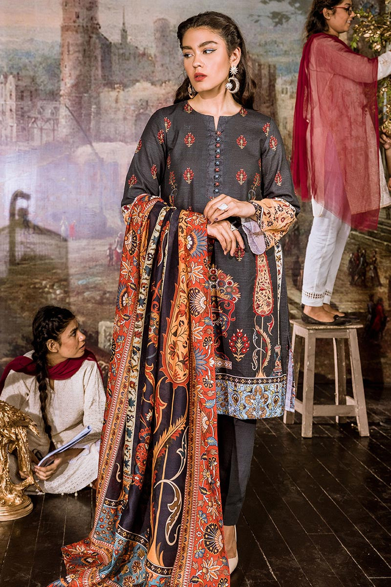 Cross Stitch Sunset Boulevard Khaddar Linen Collection Iznik Midnight 2019