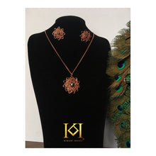 Load image into Gallery viewer, Lakiba - Pendant Necklace and Earrings Set