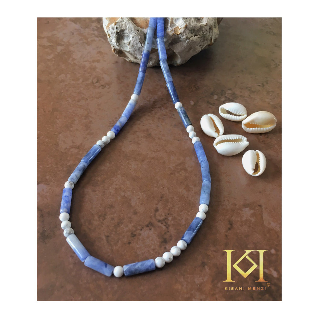 Emem - Morse Code - Gemstone Necklace
