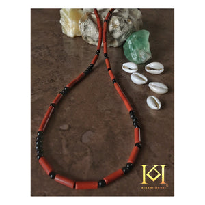 Dejen - Morse Code - Gemstone Necklace