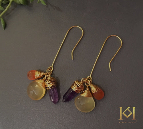 Lemon Zeta Gemstone Earrings
