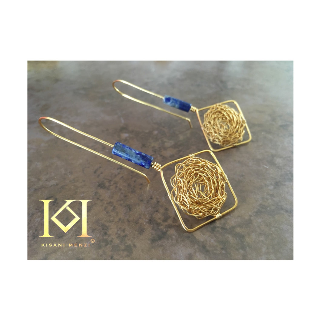 Thia - Lapis Lazuli - Earrings
