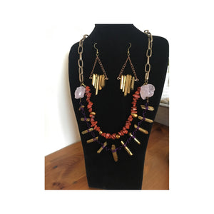 Iera Earrings and Necklace Set