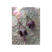 Load image into Gallery viewer, Amethyst Pendant and Earrings Set.