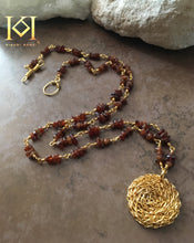 Load image into Gallery viewer, Lisanda Cosmic Medallion Gemstone Necklace