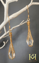 Load image into Gallery viewer, Clear Quartz Crystal Earrings