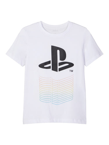 NKMPLAYSTATION T-Skjorte Hvit Name It