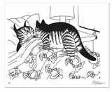 Pomegranate -  B. Kliban Cat Colouring Book