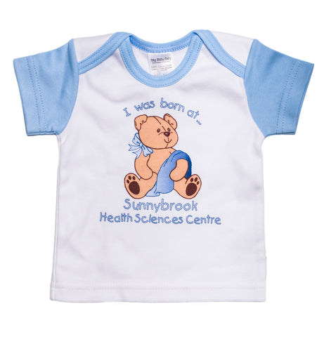 I Was Born At Sunnybrook T-Shirt, Blue