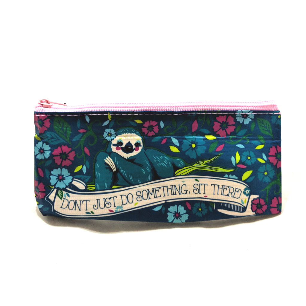 Don't Just Do Something, Sit There Zipper Pouch