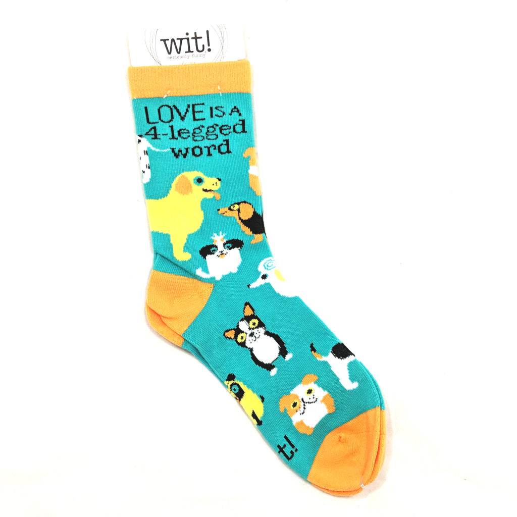 Love is a Four Legged Word Dog Socks