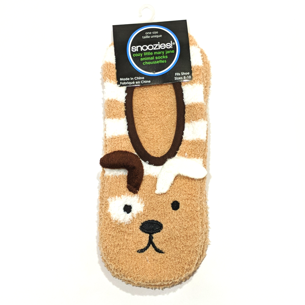 Snoozies Cozy Little Animal Socks: Puppy