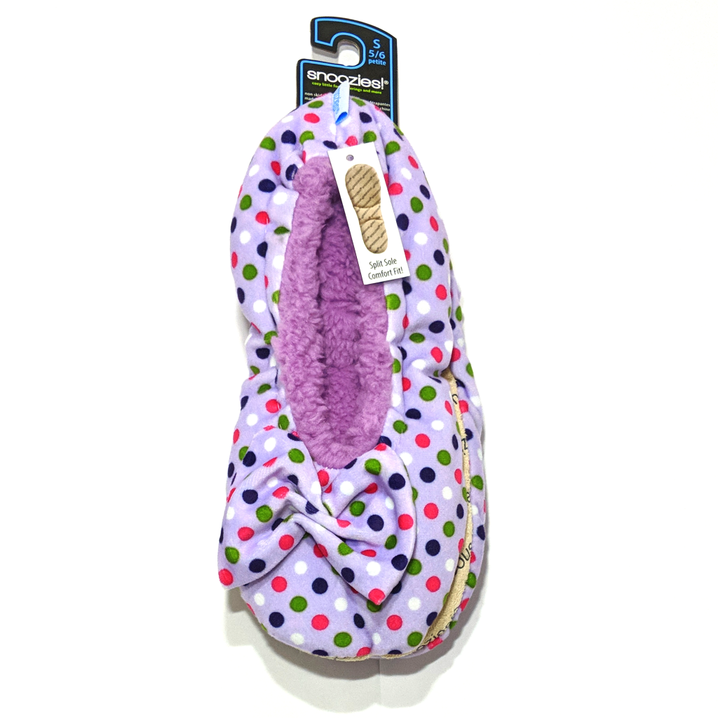 Snoozies Polka Dot Slippers (Women's Sizes)